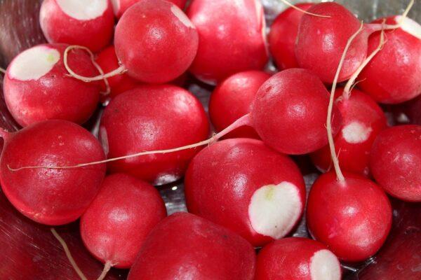 radish, vegetables, red balls